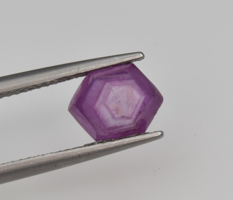Natural Ruby 2.51 Cts with Hexagonal Pattern from Guinea