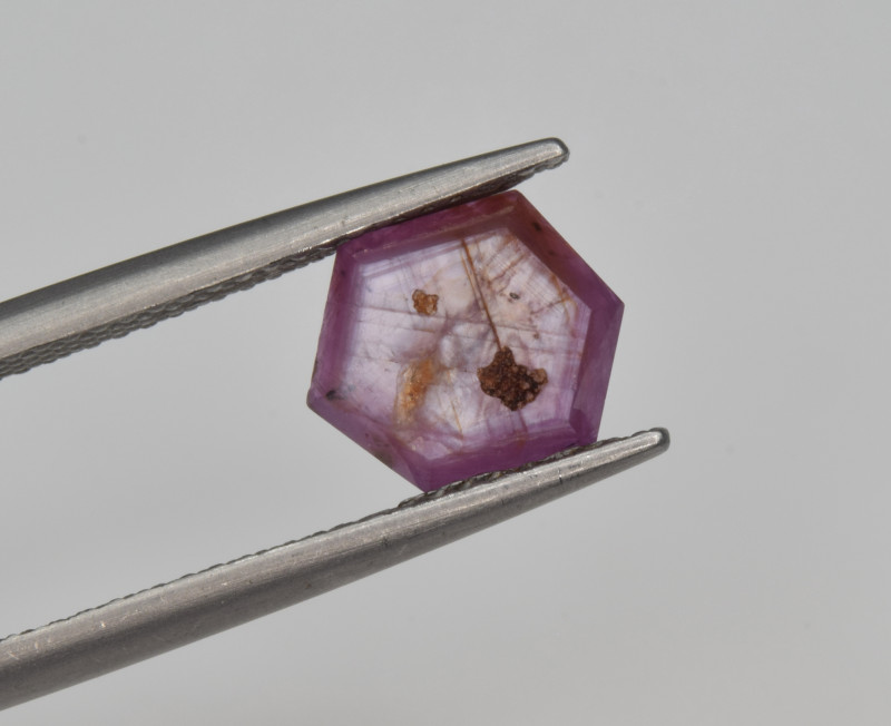 Natural Ruby 2.53 Cts with Hexagonal Pattern from Guinea