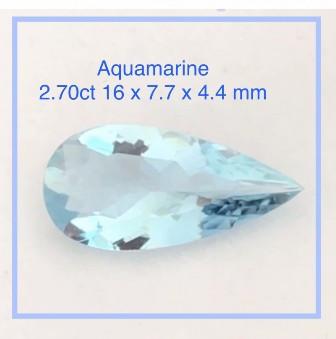 Pretty Pear Shape Quality Untreated Aquamaine - Ref 2299
