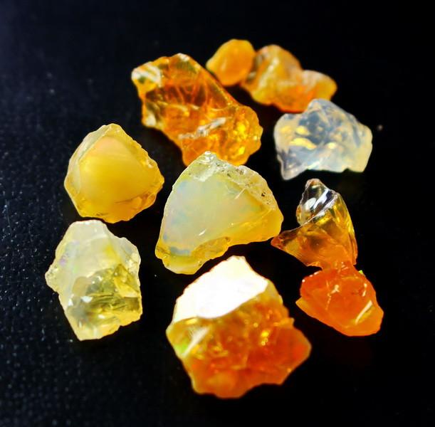 39.10 CT Natural - Unheated Orange Opal Rough Lot