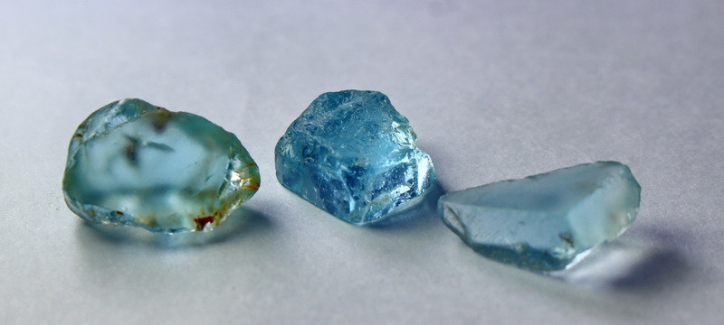 24 Cts Beautiful, Superb Blue Topaz Rough Lot