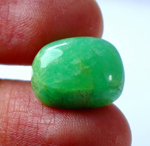 11.80 CT Natural & Unheated Green Grossular Cabochon