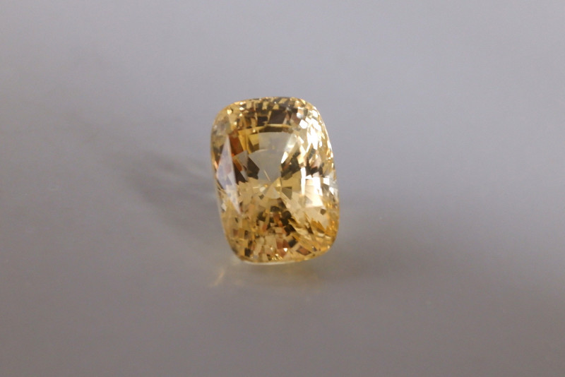 6.65ct Unheated Yellow Sapphire, Sri Lanka