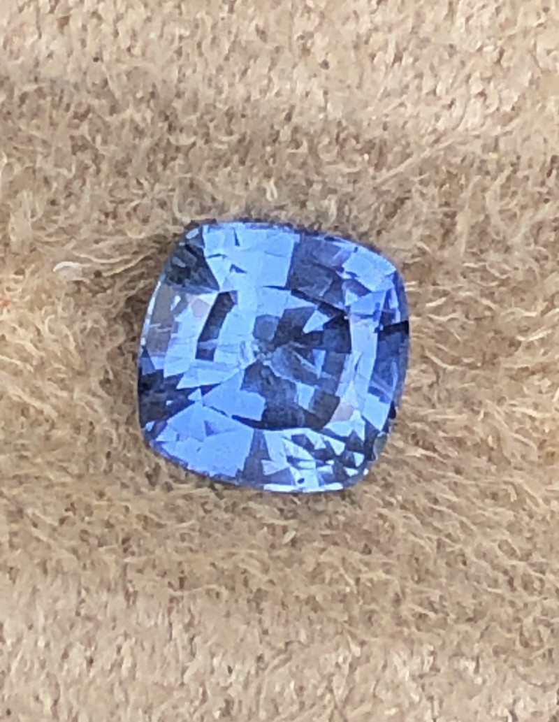 Bright blue natural untreated sapphire.  Certified.