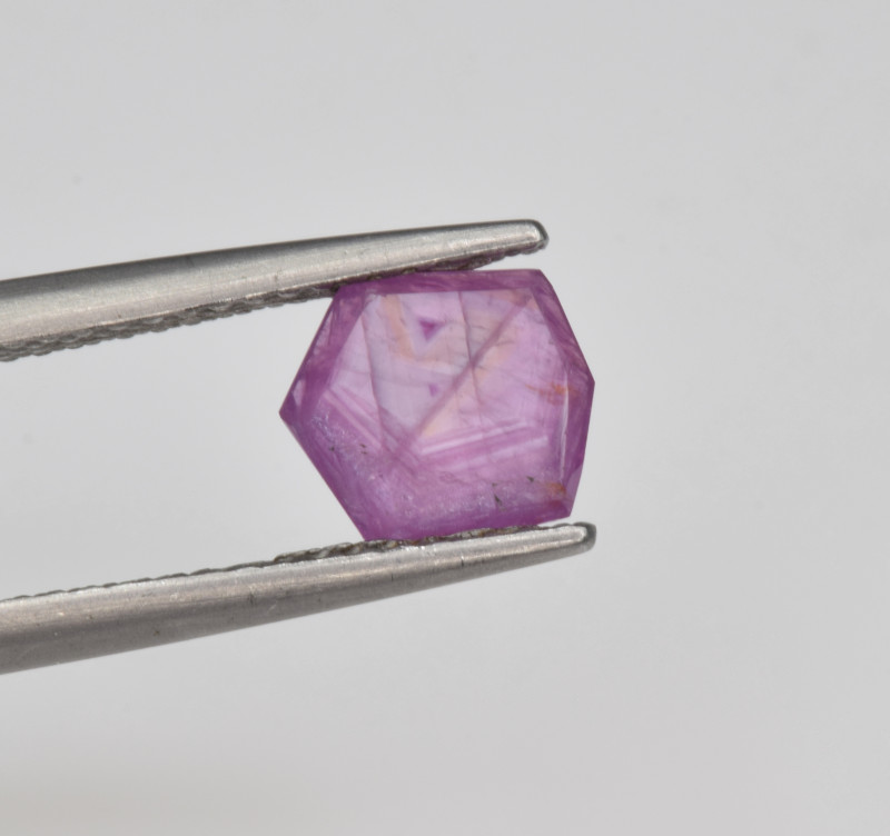 Natural Ruby 1.18 Cts with Hexagonal Pattern from Guinea