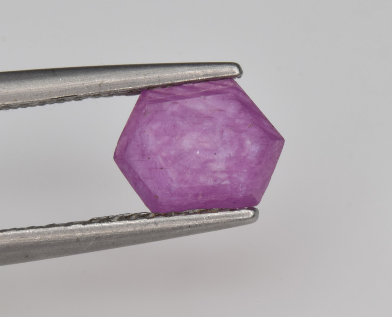 Natural Ruby 1.21 Cts with Hexagonal Pattern from Guinea