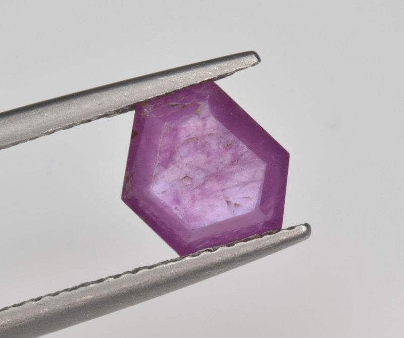 Natural Ruby 1.82 Cts with Hexagonal Pattern from Guinea
