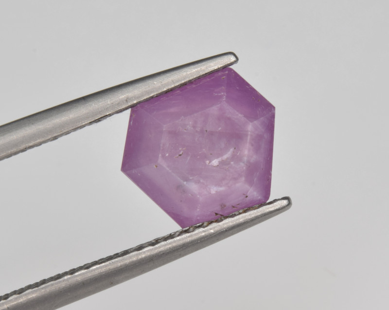 Natural Ruby 1.87 Cts with Hexagonal Pattern from Guinea
