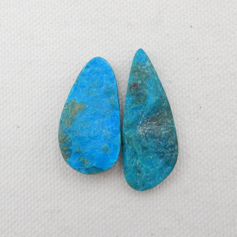 30.5cts 2pcs Beautiful Blue Opal Raw Cabochons, October Birthstone, Blue Op