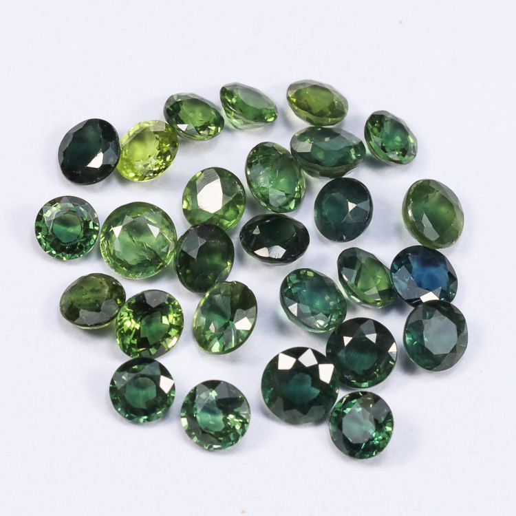 5tcw Natural Blue-Green 3.5mm Round Sapphire Parcel