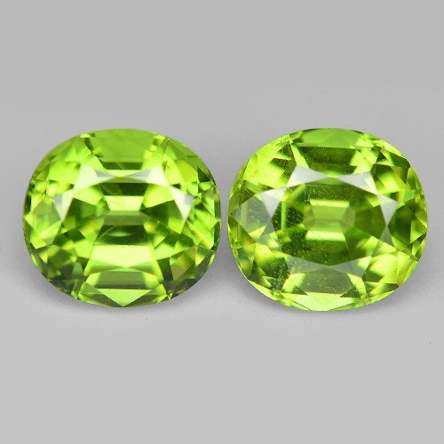 2.63 Cts 2pcs Pair 6x4 mm Green Color Natural BURMA Peridot Gemstone