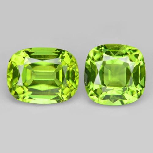 3.23 Cts 2pcs  Green Color Natural BURMA Peridot Gemstone