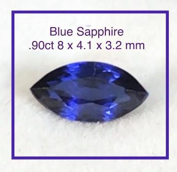 Pretty Marquise Cut Blue Sapphire - Ref 2213