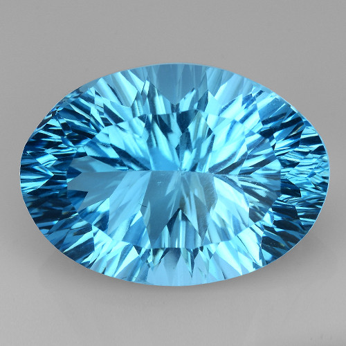 13.86 CT BLUE TOPAZ AWESOME COLOR AND CUT GEMSTONE TP28