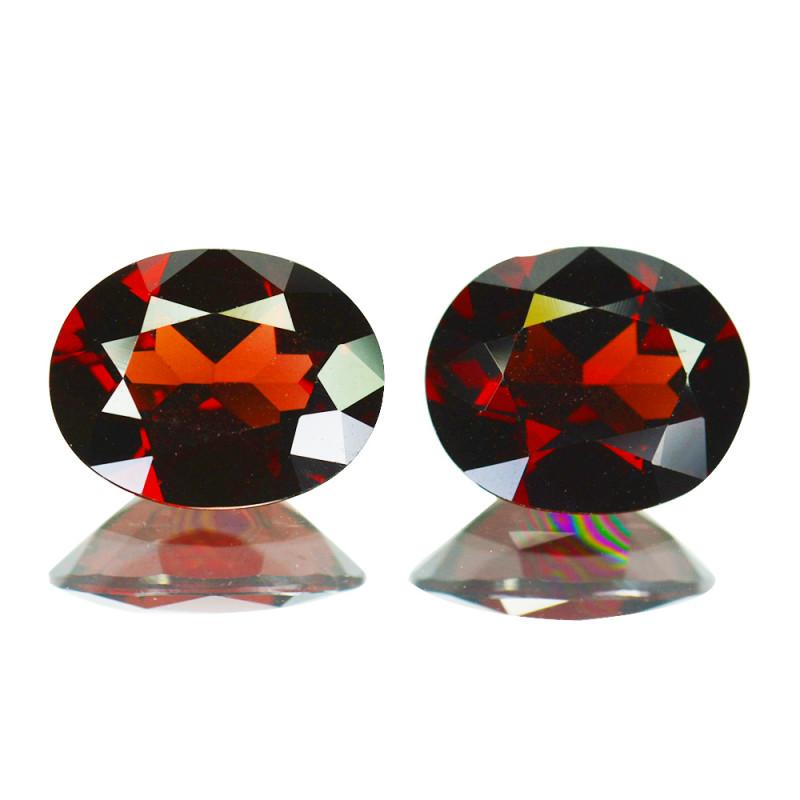 6.37Cts Natural Pinkish Red Rhodolite Garnet 10x8mm Oval Mozambique