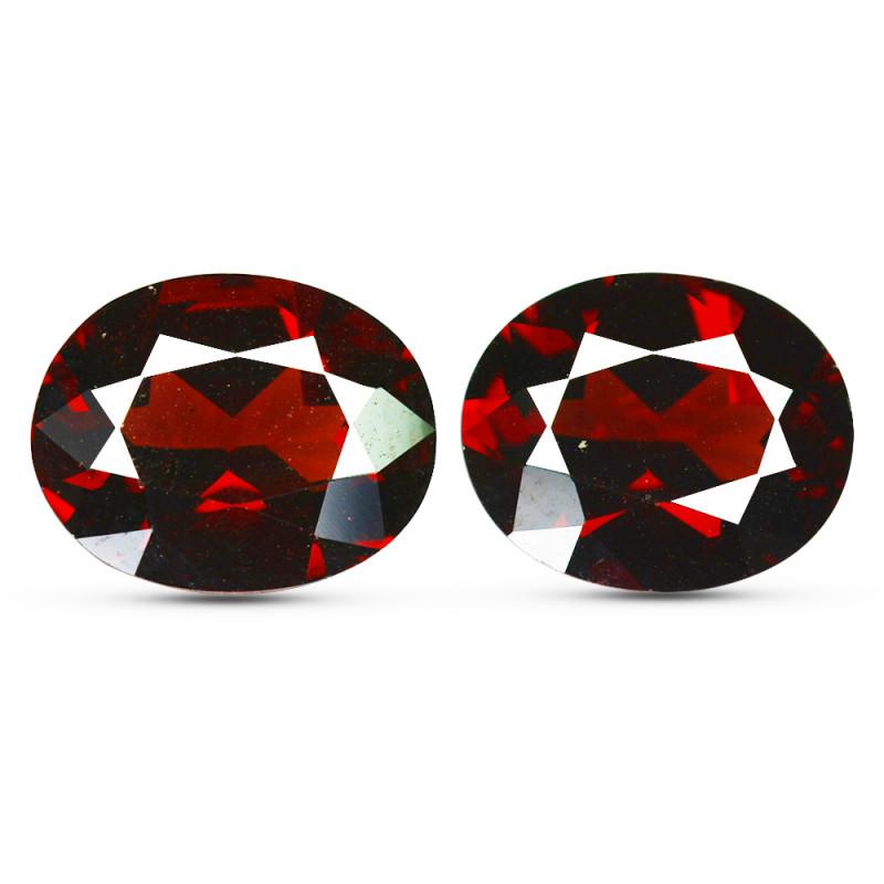 6.08Cts Natural Pinkish Red Rhodolite Garnet 10x8mm Oval Mozambique