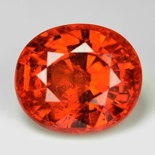 3.46 Cts Natural Orange - Red Spessartite Garnet Loose Gemstone