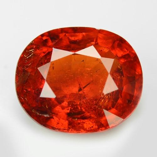 2.49 Cts Natural Orange - Red Spessartite Garnet Loose Gemstone