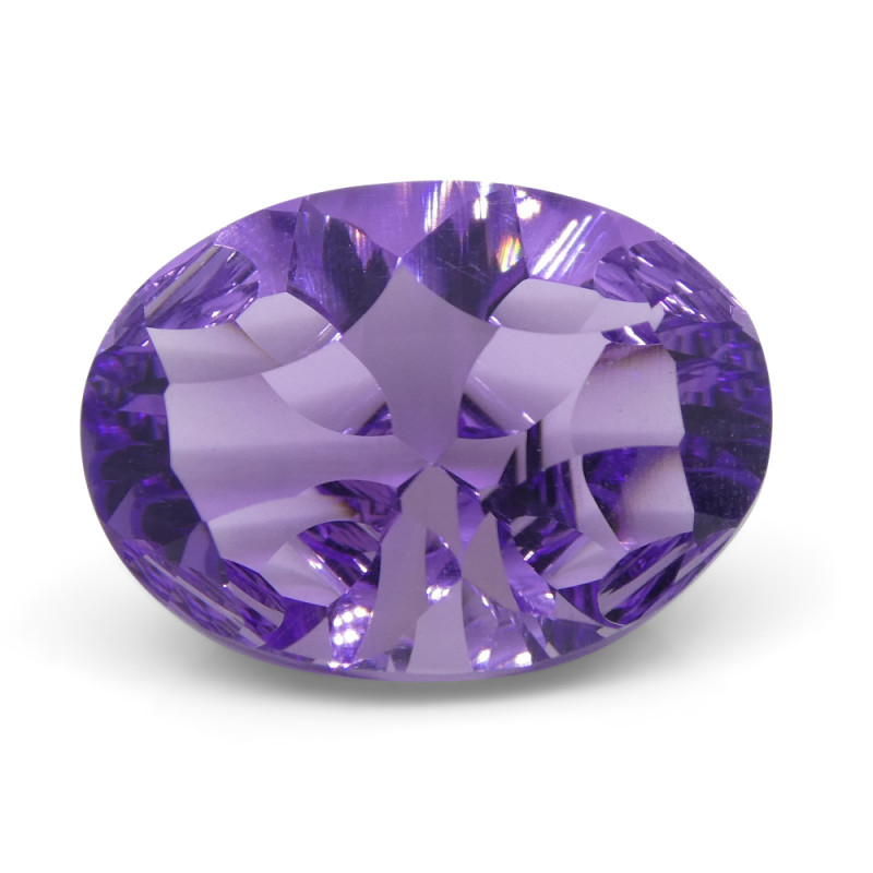 6.25 ct Oval Amethyst Fantasy Cut