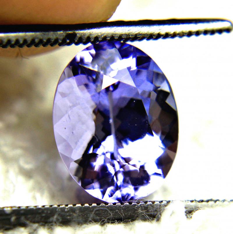 CERTIFIED - 3.58 Carat African VVS Purple Blue Tanzanite - Gorgeous