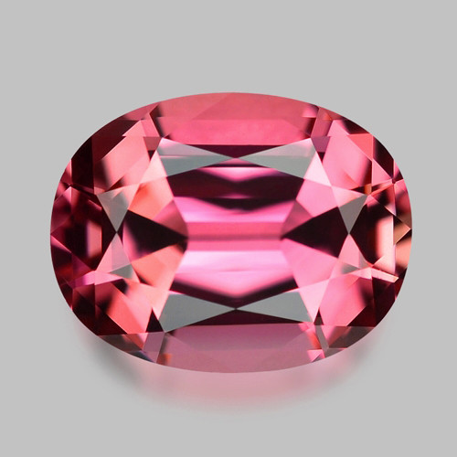 Flawless, custom precision cut natural neon pink tourmaline.
