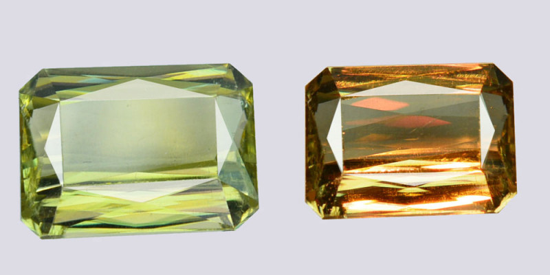 4.31Cts Natural Color Change Diaspore Octagon Cut Turkey Gem