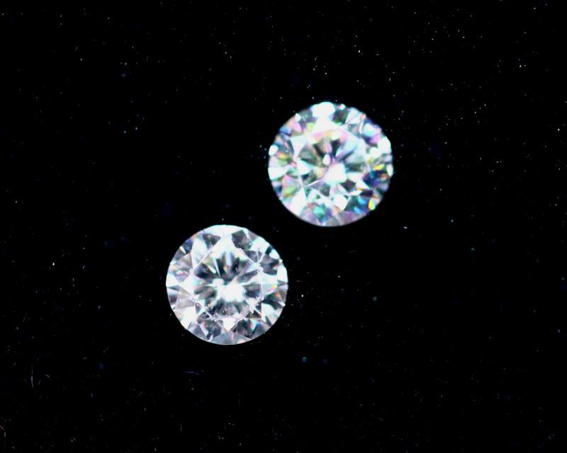 2.1mm D-F Brilliant Round VS Loose Diamond 2pcs