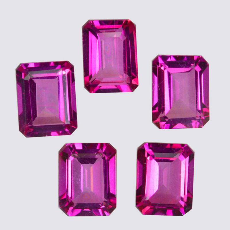13.58 Cts Candy Pink Natural Topaz 9x7mm Octagon Cut Brazil