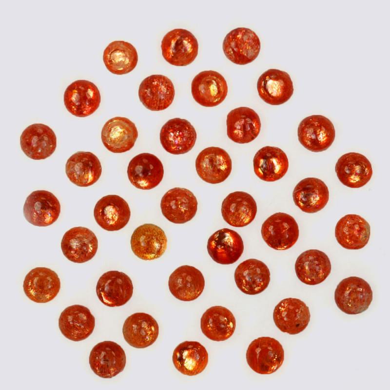 5.32 Natural Andesine Sunstone Cabochon Round 3mm Gem India