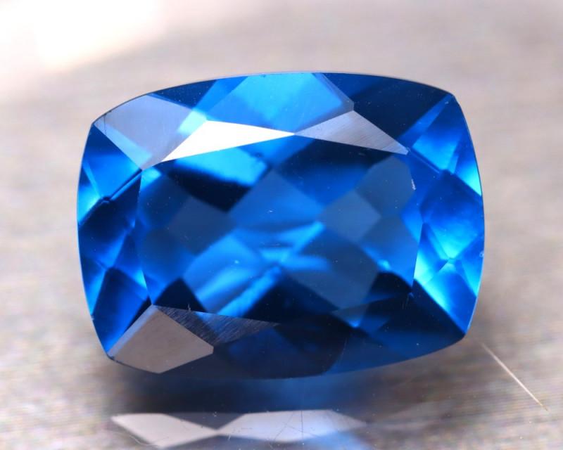 Fluorite 12.34Ct Natural IF Vivid Bule Color Change Fluorite DR169/A49