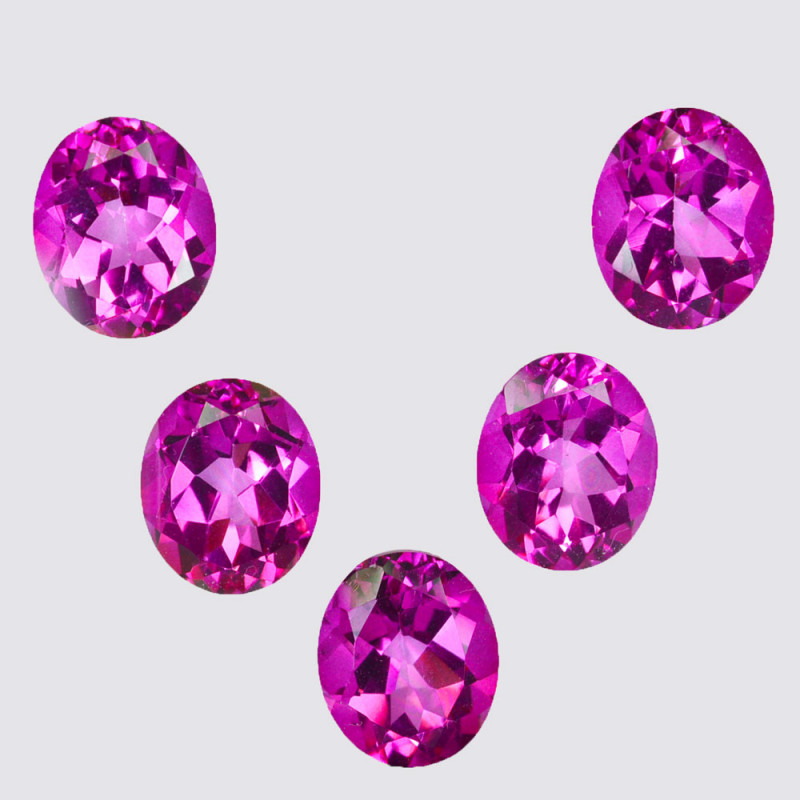 22.65 Cts Candy Pink Natural Topaz 11x9mm Oval Cut Brazil