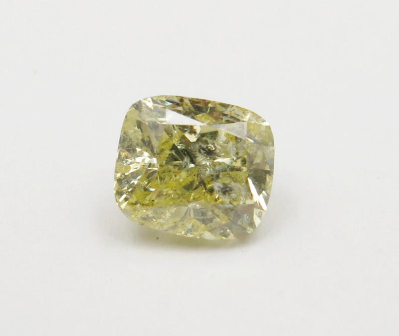 1.52ct Natural Fancy Yellow Diamond GIA certified  + Video