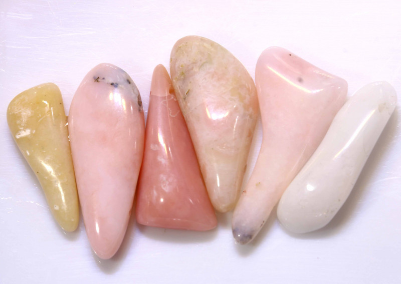58.40CTS PINK OPAL BEADS NATURAL (6PC)  NP-591