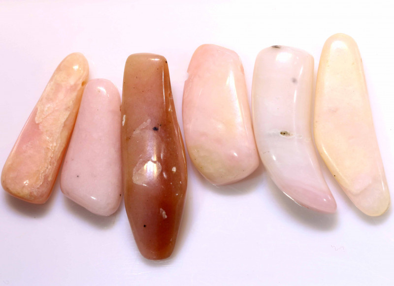 69CTS  PINK OPAL BEADS NATURAL (6PC) NP-592