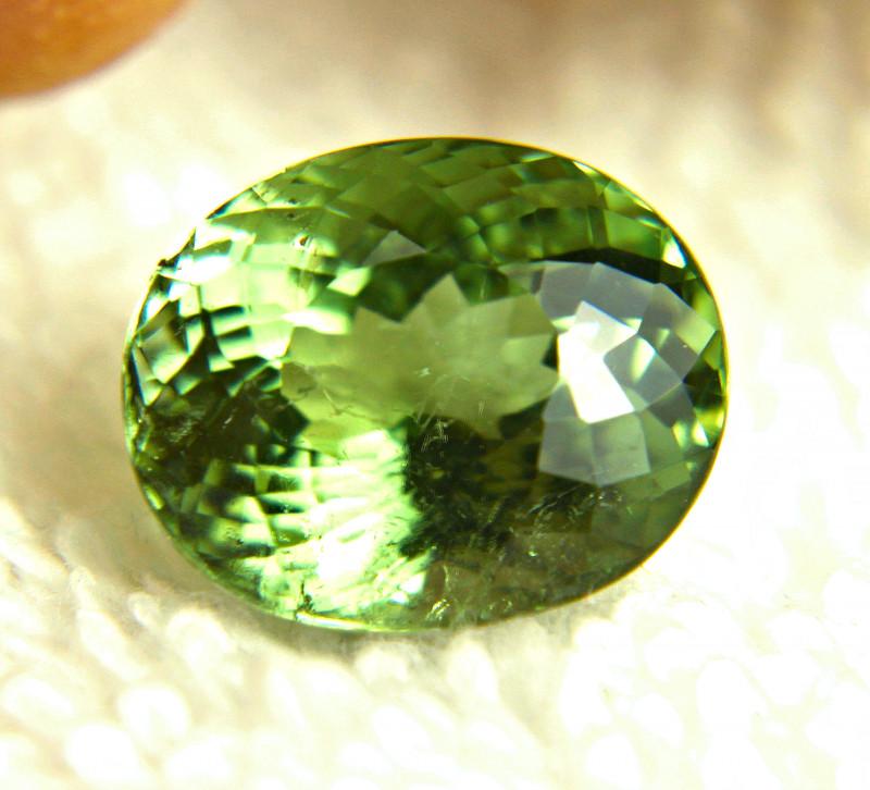 9.67 Carat SI Vibrant Light Green Tourmaline - Gorgeous