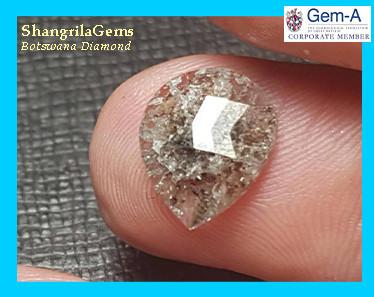 2.66ct 11.65mm diamond heart shape checker cut salt pepper