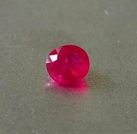0.66ct Gem quality unheated ruby