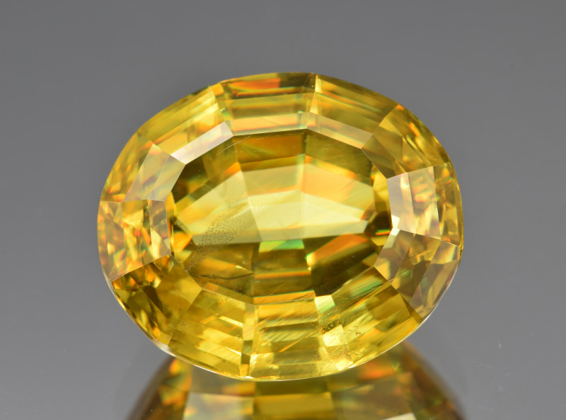 Natural Sphene/Titanite 17.28 Cts Precision Cut Gemstone