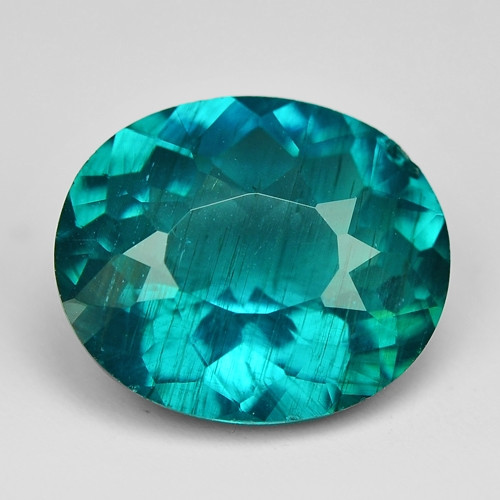 2.70 Cts Un Heated Natural Green Apatite Loose Gemstone