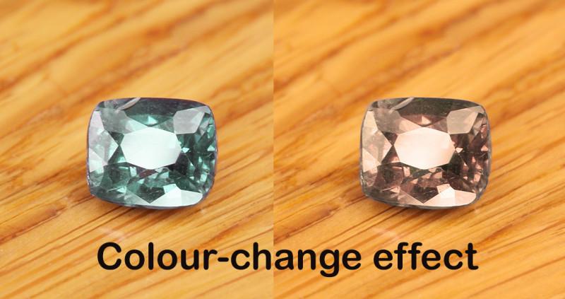 Rare Natural Blue Colour Change Garnet 0.91 Ct.  (01713)