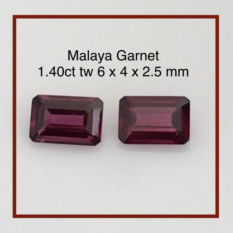 Pretty Pair of Malay Garnet - Africa