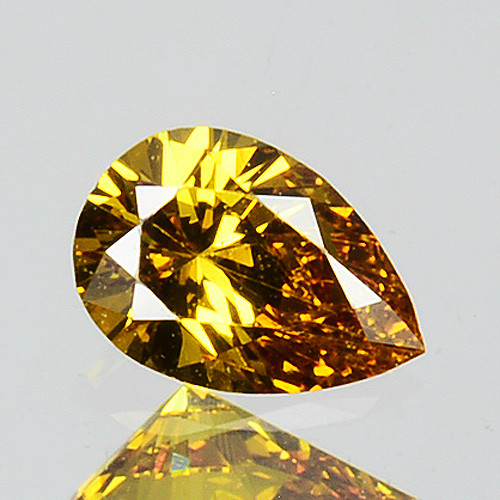 0.15 Cts Natural Untreated Diamond Fancy Yellow Pear Cut Africa