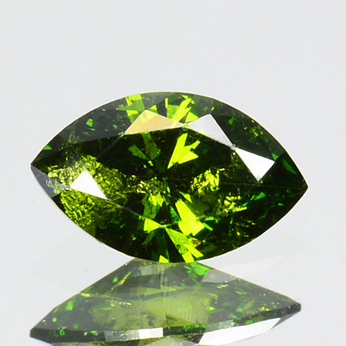 0.32 Cts Natural Diamond Vivid Green Marquise Africa