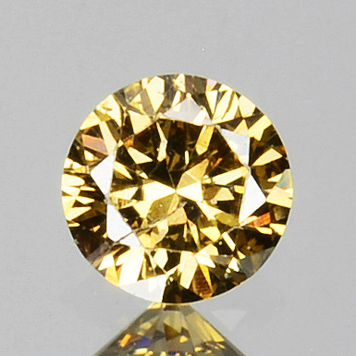 0.16 Cts Natural Untreated Diamond Fancy Yellow Round Cut Africa