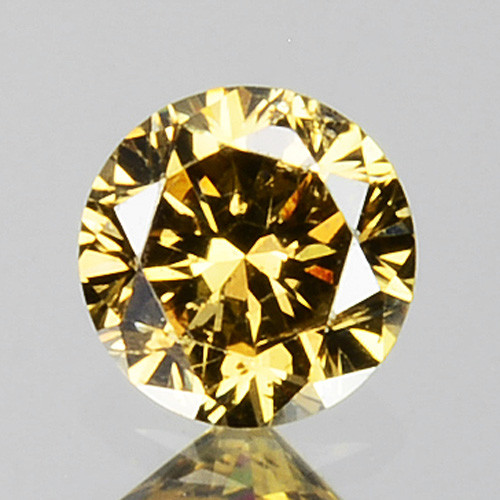 0.18 Cts Natural Untreated Diamond Fancy Yellow Round Cut Africa