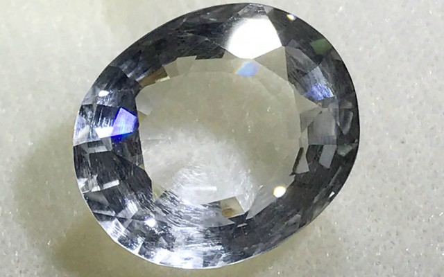 FACETED CRYSTAL QUARTZ NATURAL  12CTS CG-2115