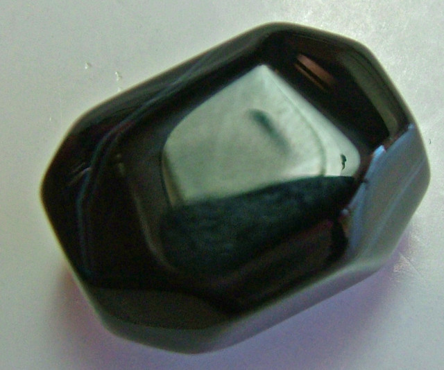 BOSTWANA BLACK AGATE FACETED BEAD DRILLED 42.25CTS AS-259
