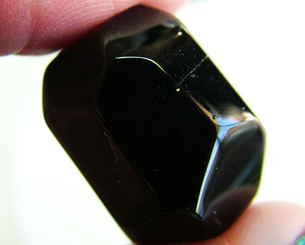 BOSTWANA BLACK AGATE FACETED BEAD DRILLED 51 CTS NP-2003