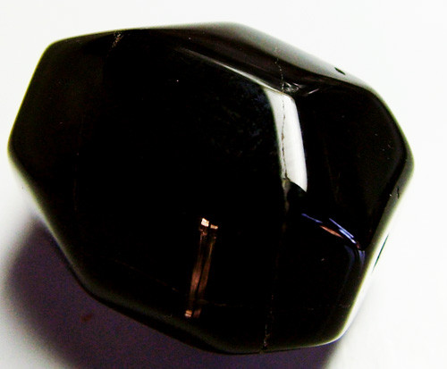BOSTWANA BLACK AGATE FACETED BEAD DRILLED 46 CTS AS-581