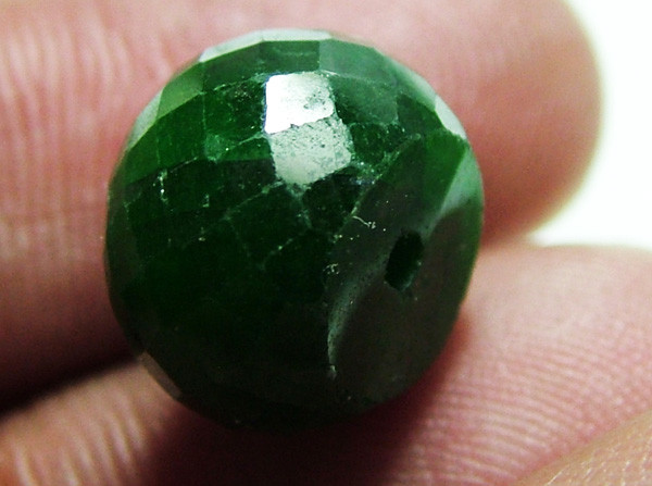 EMERALD BEAD FACETED 12 CTS AS-592